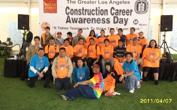 SAGE @ Belmont: Students at Los Angeles Trade Tech for Construction Career Awareness Day, 2011