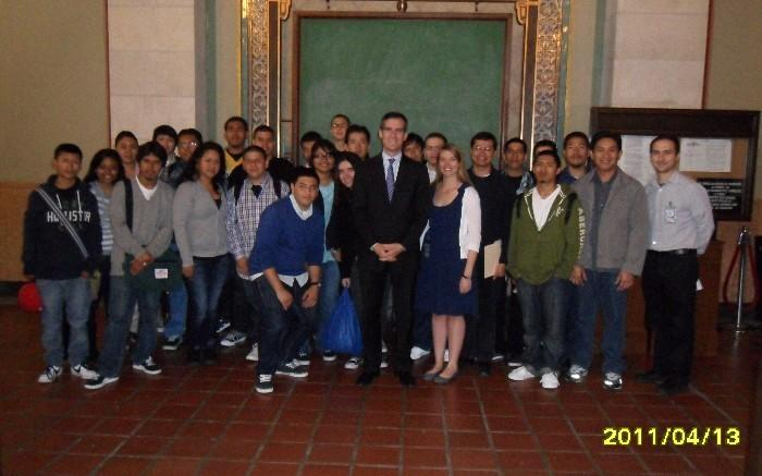 SAGE @ Belmont: Drafting/Computer Aided Design students (class of 2012) visit LA Public Works Department at City Council. Teachers: Mr. Sy and Mr. Pineda